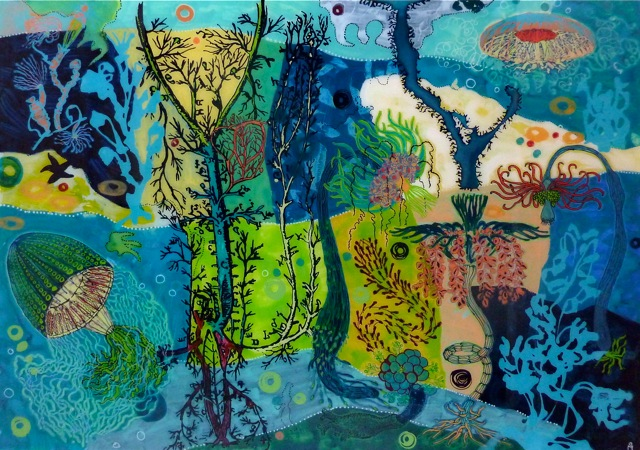 """Gemälde """"Blumentiere"""" von Maja Ott"""